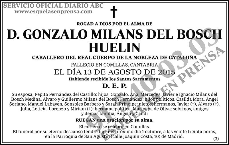 Gonzalo Milans del Bosch Huelin